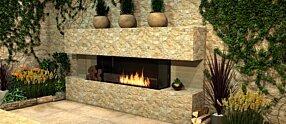 Outdoor Setting - Flex 86BY.BXL Inserts de cheminée by EcoSmart Fire