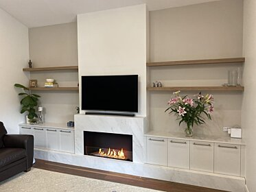 Flex 68SS.BX2 Simple face - In-Situ Image by EcoSmart Fire