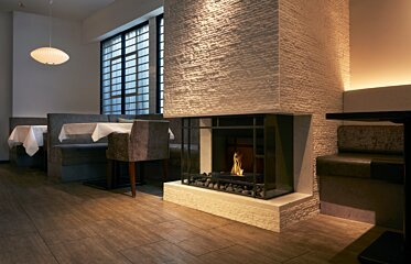 Grate 18 Fireplace Grate - In-Situ Image by EcoSmart Fire