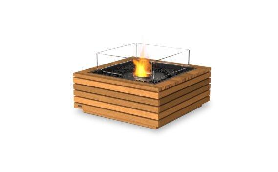 Base 30 Tables extérieure - Ethanol - Black / Teak / Optional Fire Screen by EcoSmart Fire