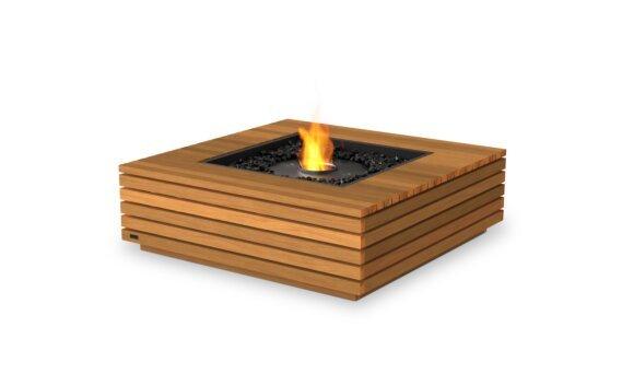 Base 40 Tables extérieure - Ethanol - Black / Teak by EcoSmart Fire