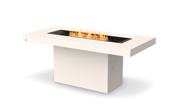 Gin 90 (Bar) Tables extérieure - Ethanol - Black / Bone by EcoSmart Fire