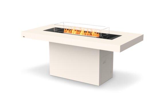 Gin 90 (Bar) Tables extérieure - Ethanol - Black / Bone / Optional Fire Screen by EcoSmart Fire