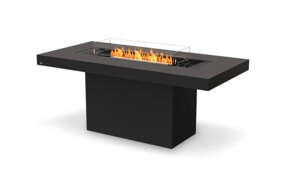 Gin 90 (Bar) Tables extérieure - Ethanol - Black / Graphite / Optional Fire Screen by EcoSmart Fire