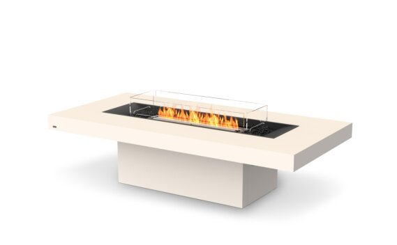 Gin 90 (Chat) Tables extérieure - Ethanol - Black / Bone / Optional Fire Screen by EcoSmart Fire