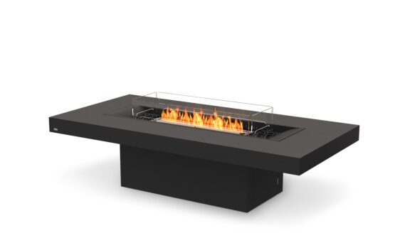 Gin 90 (Chat) Tables extérieure - Ethanol - Black / Graphite / Optional Fire Screen by EcoSmart Fire