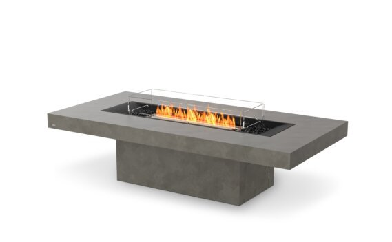 Gin 90 (Chat) Tables extérieure - Ethanol - Black / Natural / Optional Fire Screen by EcoSmart Fire