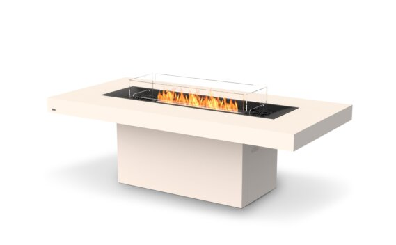 Gin 90 (Dining) Tables extérieure - Ethanol - Black / Bone / Optional Fire Screen by EcoSmart Fire
