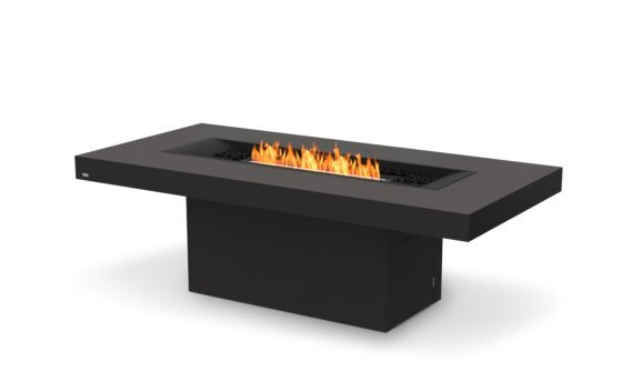 Gin 90 (Dining) Tables extérieure - Ethanol - Black / Graphite / Optional Fire Screen by EcoSmart Fire