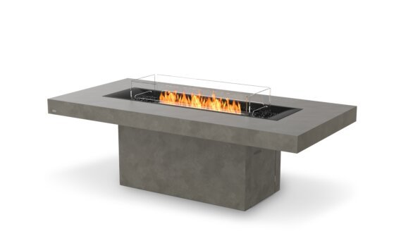 Gin 90 (Dining) Tables extérieure - Ethanol - Black / Natural / Optional Fire Screen by EcoSmart Fire