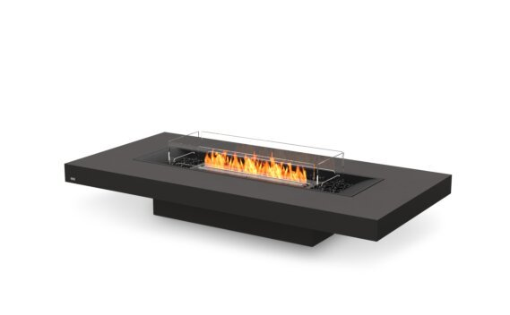 Gin 90 (Low) Tables extérieure - Ethanol - Black / Graphite / Optional Fire Screen by EcoSmart Fire