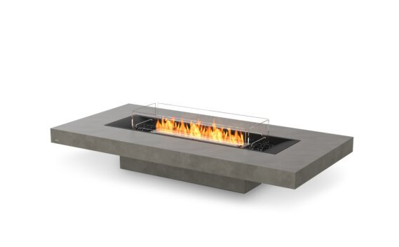 Gin 90 (Low) Tables extérieure - Ethanol - Black / Natural / Optional Fire Screen by EcoSmart Fire
