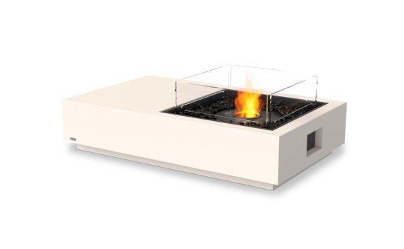 Manhattan 50 Tables extérieure - Ethanol - Black / Bone / Optional Fire Screen by EcoSmart Fire
