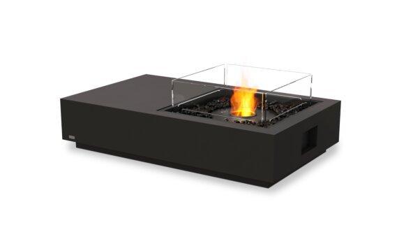 Manhattan 50 Tables extérieure - Ethanol - Black / Graphite / Optional Fire Screen by EcoSmart Fire