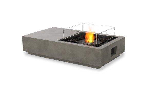 Manhattan 50 Tables extérieure - Ethanol - Black / Natural / Optional Fire Screen by EcoSmart Fire