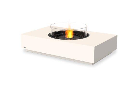 Martini 50 Tables extérieure - Ethanol - Black / Bone / Optional Fire Screen by EcoSmart Fire
