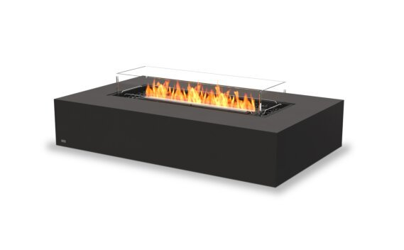 Wharf 65 Tables extérieure - Ethanol - Black / Graphite / Optional Fire Screen by EcoSmart Fire