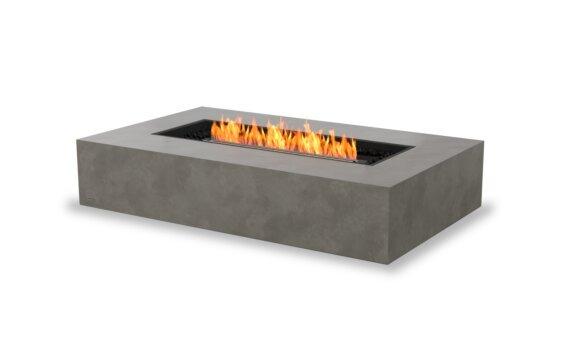 Wharf 65 Tables extérieure - Ethanol - Black / Natural by EcoSmart Fire