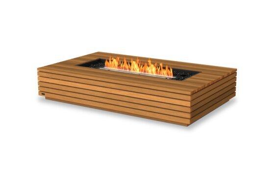 Wharf 65 Tables extérieure - Ethanol - Black / Teak by EcoSmart Fire