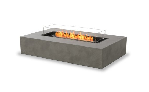Wharf 65 Tables extérieure - Ethanol - Black / Natural / Optional Fire Screen by EcoSmart Fire