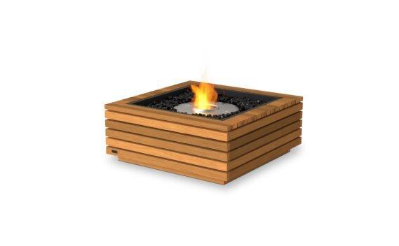 Base 30 Tables extérieure - Ethanol / Teak by EcoSmart Fire