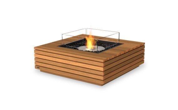 Base 40 Tables extérieure - Ethanol / Teak / Optional Fire Screen by EcoSmart Fire