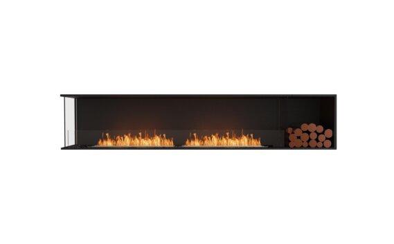 Flex 104LC.BXR Angle gauche - Ethanol / Black / Installed View by EcoSmart Fire