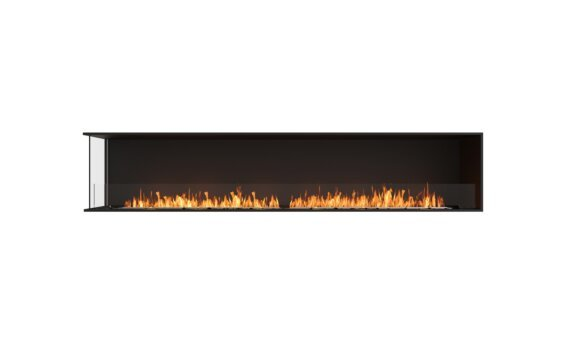 Flex 104LC Angle gauche - Ethanol / Black / Installed View by EcoSmart Fire