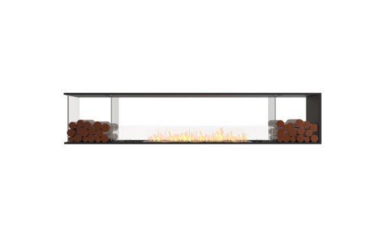 Flex 104PN.BX2 Péninsule (trois faces) - Ethanol / Black / Installed View by EcoSmart Fire