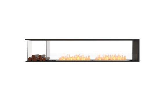 Flex 104PN.BXL Péninsule (trois faces) - Ethanol / Black / Installed View by EcoSmart Fire