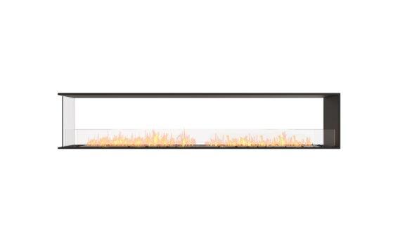 Flex 104PN Péninsule (trois faces) - Ethanol / Black / Installed View by EcoSmart Fire