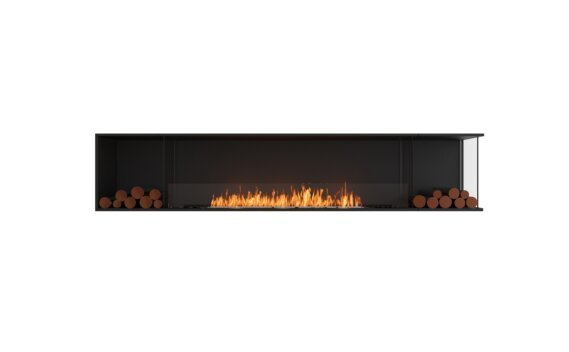 Flex 104RC.BX2 Angle droit - Ethanol / Black / Installed View by EcoSmart Fire