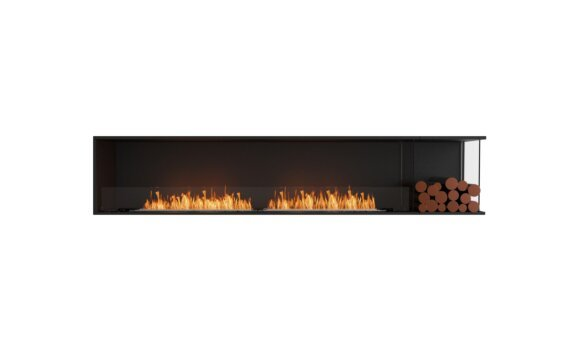 Flex 104RC.BXR Angle droit - Ethanol / Black / Installed View by EcoSmart Fire