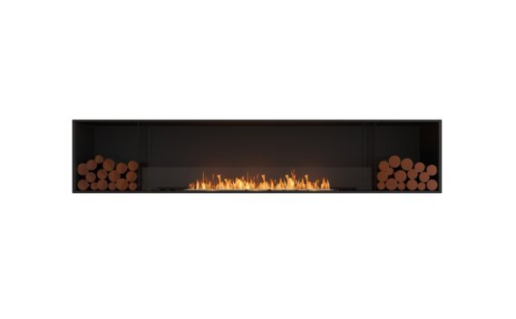 Flex 104SS.BX2 Simple face - Ethanol / Black / Installed View by EcoSmart Fire