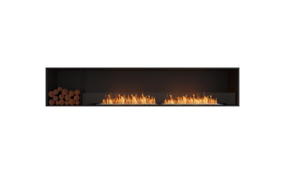 Flex 104SS.BXL Simple face - Ethanol / Black / Installed View by EcoSmart Fire