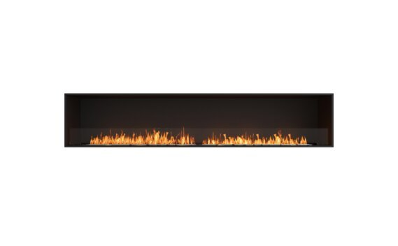Flex 104SS Simple face - Ethanol / Black / Installed View by EcoSmart Fire