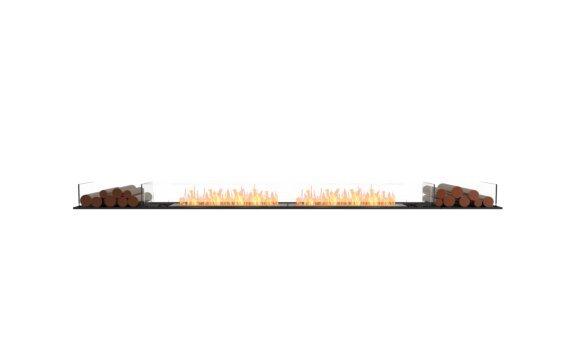 Flex 122BN.BX2 Bench - Ethanol / Black / Installed View by EcoSmart Fire