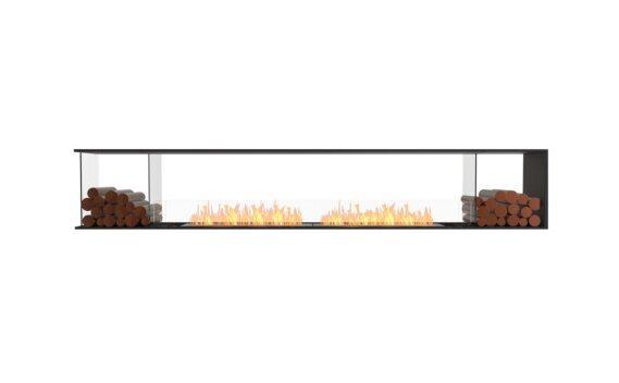 Flex 122PN.BX2 Péninsule (trois faces) - Ethanol / Black / Installed View by EcoSmart Fire