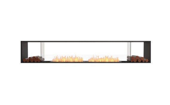 Flex 122DB.BX2 Double face - Ethanol / Black / Installed View by EcoSmart Fire
