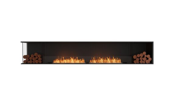 Flex 122LC.BX2 Angle gauche - Ethanol / Black / Installed View by EcoSmart Fire