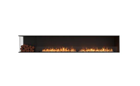 Flex 122LC.BXL Angle gauche - Ethanol / Black / Installed View by EcoSmart Fire