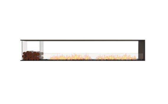 Flex 122PN.BXL Péninsule (trois faces) - Ethanol / Black / Installed View by EcoSmart Fire