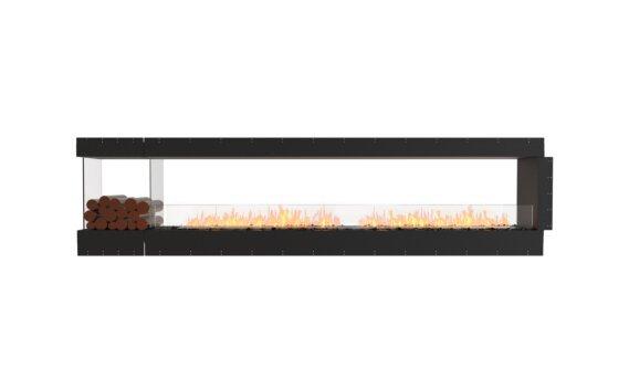 Flex 122PN.BXL Péninsule (trois faces) - Ethanol / Black / Uninstalled View by EcoSmart Fire