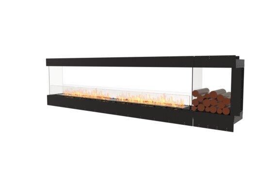 Flex 122PN.BXR Péninsule (trois faces) - Ethanol / Black / Uninstalled View by EcoSmart Fire