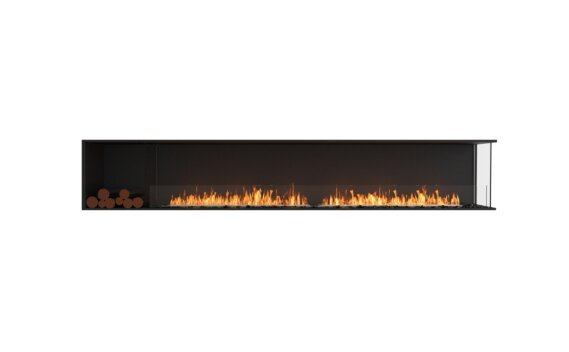 Flex 122RC.BXL Angle droit - Ethanol / Black / Installed View by EcoSmart Fire