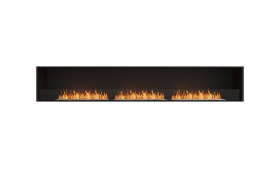 Flex 122SS Simple face - Ethanol / Black / Installed View by EcoSmart Fire