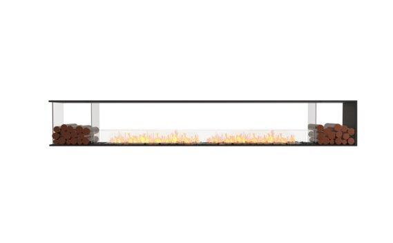Flex 140PN.BX2 Péninsule (trois faces) - Ethanol / Black / Installed View by EcoSmart Fire