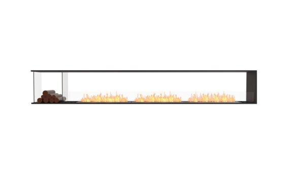 Flex 140PN.BXL Péninsule (trois faces) - Ethanol / Black / Installed View by EcoSmart Fire