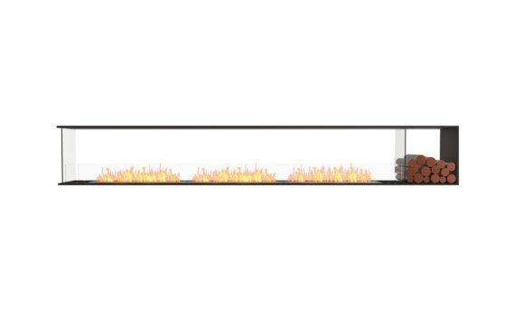 Flex 140PN.BXR Péninsule (trois faces) - Ethanol / Black / Installed View by EcoSmart Fire