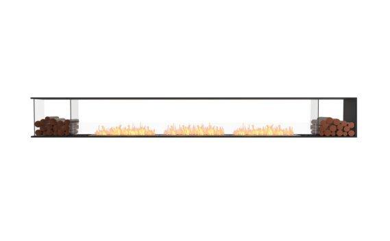 Flex 158PN.BX2 Péninsule (trois faces) - Ethanol / Black / Installed View by EcoSmart Fire